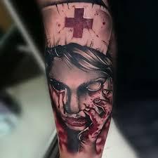 tattoo ideas zombie zombie nurse tattoo best tattoo ideas gallery