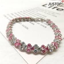 crystal bracelet price images China factory price zircon stone full diamond bracelet crystal jpg
