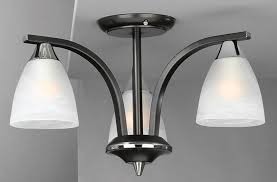 Chrome Ceiling Lights Uk Carlisle Flush Black Chrome 3 Light Lounge Pinterest