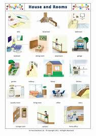 rooms in the house and house flashcards for kids