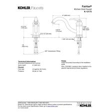 Kohler Revival Kitchen Faucet Attractive Kohler Fairfax Kitchen Faucet Also Single Handle Pull