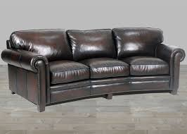 Modern Brown Leather Sofa by Stetson Coffee Leather Hillsboro Three Seat Angled Sofa In Old