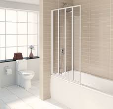 aqualux white aqua 4 clear glass quad fold bath shower screen 840 aqualux white aqua 4 clear glass quad fold bath shower screen 840 x 1400mm
