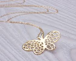 long butterfly necklace images Layered necklace long necklace messembria jpg