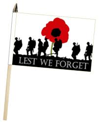 lest we forget british army poppy large hand waving flag