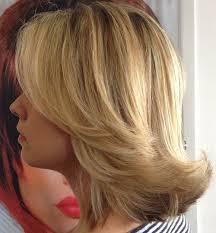medium long flipped hair shoulder length hair with long bangs hairstyle for women man
