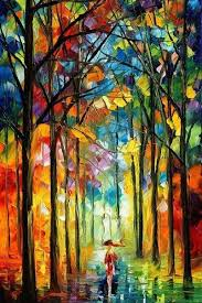 colors of love u2014 rainy landscape oil painting on canvas by leonid