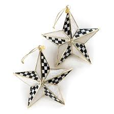 mackenzie childs bright ornaments set of 2