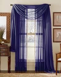 Blue Sheer Curtain Navy Blue Sheer Voile Curtain Scarf Moshells