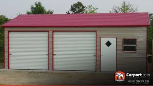 Building A Two Car Garage Two Car Steel Garage 22 U0027 X 36 U0027 X 9 U0027 Shop Metal Buildings Online
