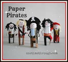 kids u0027 paper roll pirates craft one time through