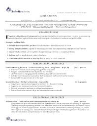 Sample Resume With Summary Statement by 100 Lvn Skills Resume Graduate Nurse Resume Example Resume