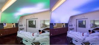 led lighting used to comfort hospital patients klus design