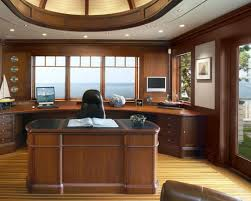 modern desk office decorating ideas equipped simple three design