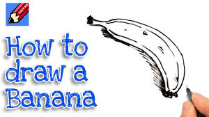 learn how to draw a banana real easy for kids and beginners youtube