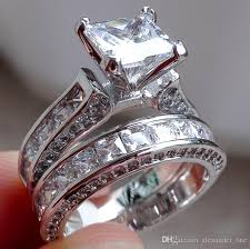 wedding sets for 2018 wholesale fashion 925 sterling silver jewelry set square topaz