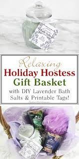 southern mom loves relaxing hostess gift with diy lavender bath