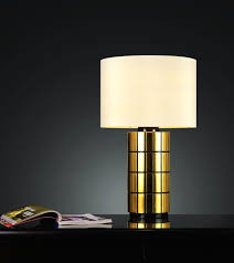 Bedroom Nightstand Lights by Bedroom Round Ivory With Gold Nightstand Lamps For Minimalist
