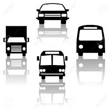 truck car black bus truck car and subway train silhouettes stock photo picture