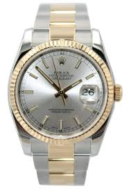 bracelet rolex images Rolex oyster perpetual datejust 36mm two tone silver index JPG
