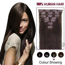 real hair clip in extensions inch brown 2 clip in hair extensions 200g 10pcs