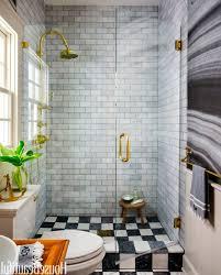 Grey Bathrooms Decorating Ideas by Small Bathroom Decorating Ideas Striped Curtain White Acrylic