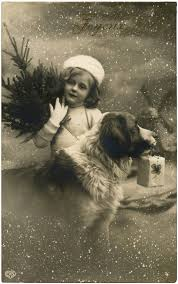 vintage christmas with dog photo graphics fairy vintage