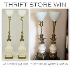 Thrift Store Home Design Vintage Stiffel Lamp Librarian Tells All Thrift Store Win