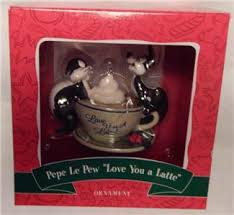 looney tunes ornament pepe le pew penelope you a latte