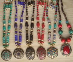 beaded jewelry design necklace images Designer handmade beaded jewellery sets manufacturer exporter jpg