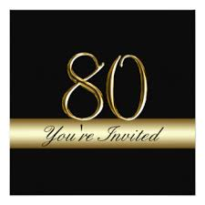 80th birthday invitations u0026 announcements zazzle
