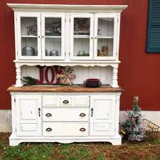 china cabinet rustic white farm style china cabinet with