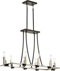 kichler 43292bk bensimone contemporary black kitchen island light