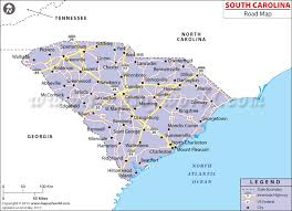 map of and south carolina buy south carolina road map