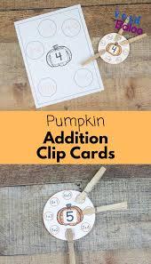 pumpkin addition clip cards for fun math practice royal baloo