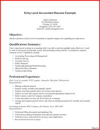 exle of accountant resume accountant resume summary statement of qualifications accounting