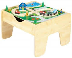 wooden train set table best wooden train table set for kids