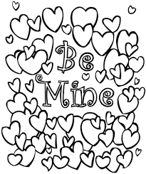 free valentines coloring pages funycoloring