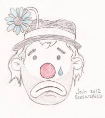 josh u0027s another day of paradise daily sketch sad clown