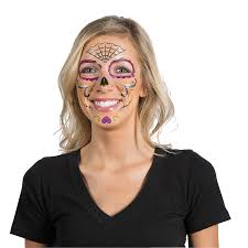 day of the dead face tattoos temporary tattoos novelty jewelry