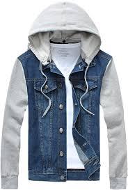 jean sweater jacket jean jacket hoodie mens clothing