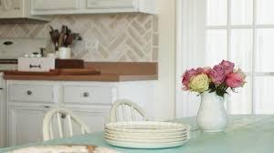 herringbone kitchen backsplash a herringbone brick stenciled kitchen backsplash stencil stories