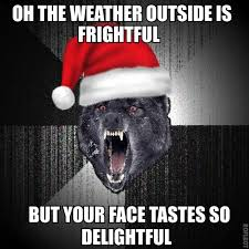 Insanity Wolf Memes - christmas insanity wolf by daddius on deviantart