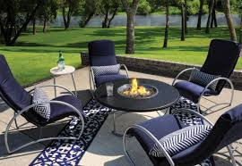 Patio Sets With Fire Pit Fantastic Patio Set Fire Pit Table With Black Galaxy Granite