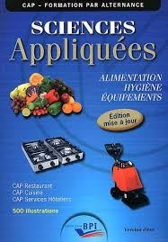 sciences appliqu s cap cuisine cap sciences appliquées alimentation hygiène équipements jf