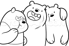bare bears coloring pages printable coloring