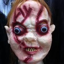 women men halloween horror mask chucky mask mardi gras masquerade