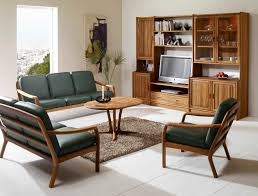 Living Room With Brown Leather Sofa by 24 Simple Wooden Sofa To Use In Your Home Keribrownhomes