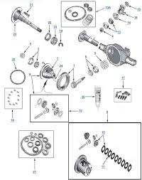 tj wrangler model 35 rear end axle parts dana 35 part diagram