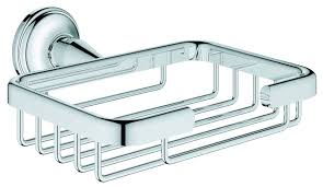 Grohe Europlus Kitchen Faucet by Grohe Essentials Authentic Bathroom Soap Dish 40659001 Chrome
